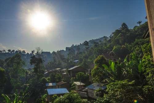 Drc Congo Dr Con Zaire Sun Sun Rise Morning
