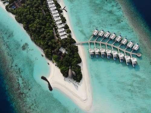 Drone Maldives Resort Holiday Honeymoon Travel