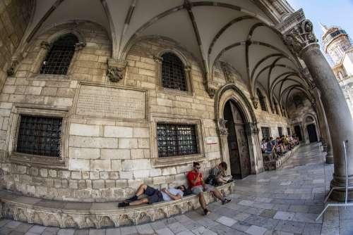 Dubrovnik Croatia Center City Old Town Dalmatia