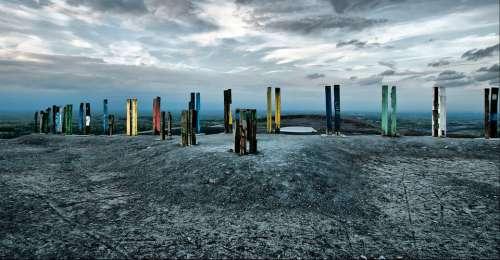 Dump Mine Tailings Steles Haniel Ruhr Area