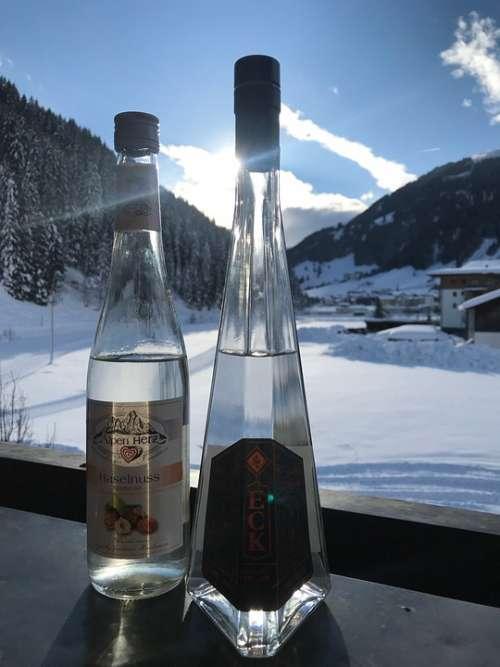 Enchanted Brandy Gin Spirit Nature Snow Winter