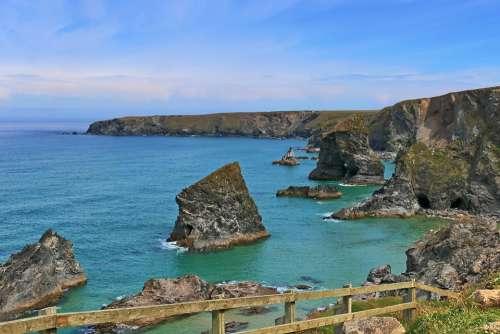 England Cornwall Newquay Padstow Coast Sea