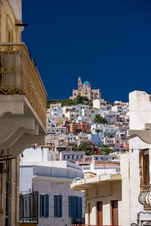 Ermopoli The Island Of Syros Church Aegean