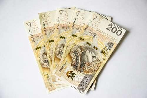 Euro Banknotes Polish Banknotes Money Currency