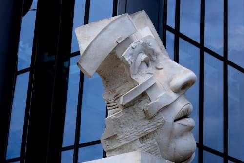 Face Sculpture Statue Figure Head Stone