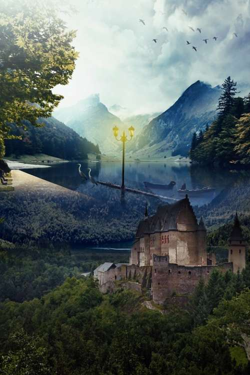 Fantasy Landscape Fantasy Landscape Dream Surreal