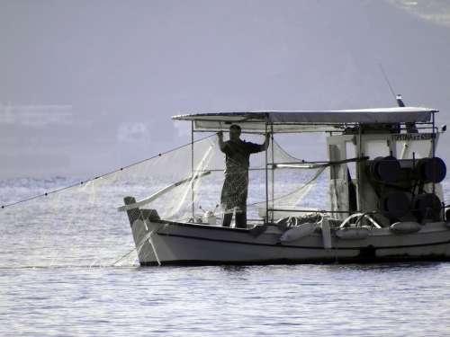 Fisherman Boat Fishing