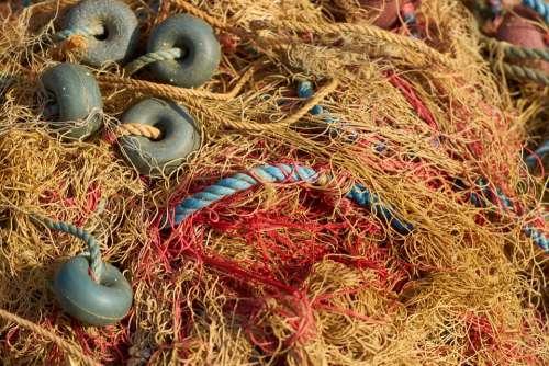 Fisherman Network Fish Old Rope Keep Hunting