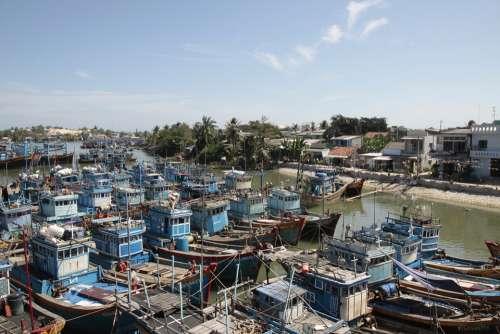 Fishing Boat Port Lagi Binh Thuan Vietnam