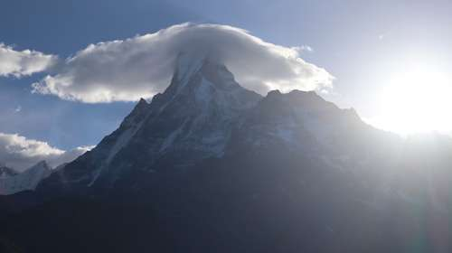 Fishtail Nepal Mountain Cloudvail