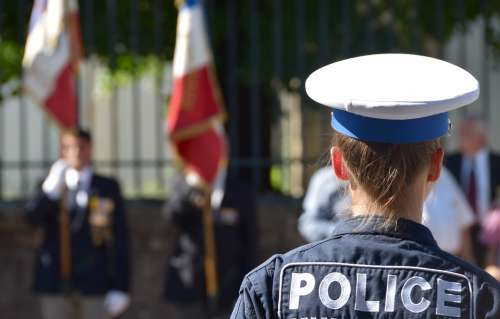 Flag Police National Holiday 14 July Parade France