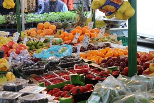 Fruits Strawberry Fresh Street Fair