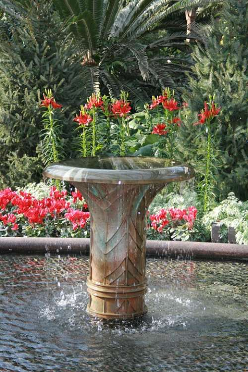 Garden Fountain Water