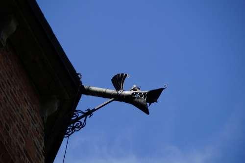 Gargoyle Gutter Castle Gripsholm Sky Detail Gully