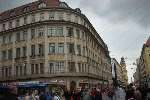 Germany Munich Architecture City Buildings
