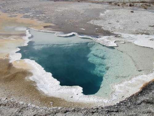 Geyser Yellow Stone Usa Hot Sulfur National Park