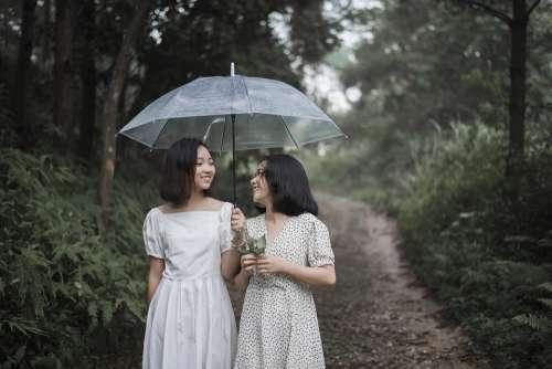 Girls Weather Happy Raining Cute