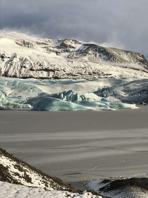 Glacier Iceland Icelandic Landscape Winter