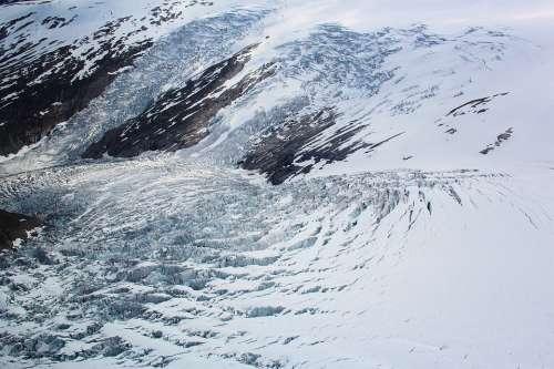 Glacier Mountains Norway Snow Landscape Ice
