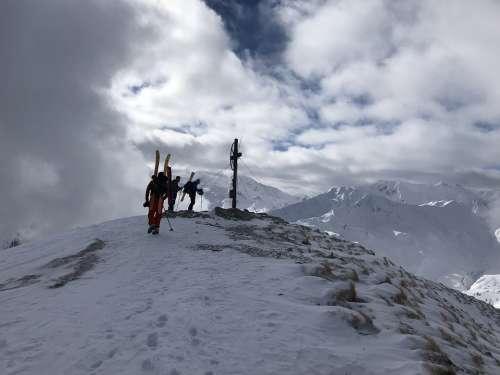 Grüblspitze Peak Zillertal Winter