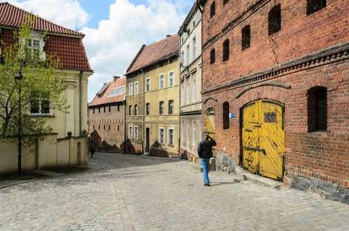 Grudziadz Grudziądz Poland Old Town Brick