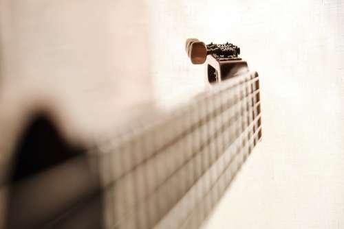 Guitar Perspective Tiefenschärfe Strings Close Up