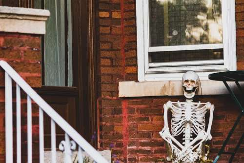 Halloween Skeleton House Creepy Horror Scary
