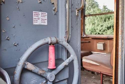 Hand Brake Train Old Railway Rail Traffic Travel