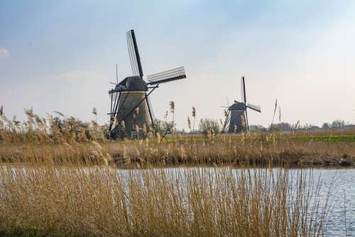 Holland Mill Windmill Travel Water Tour Tourism