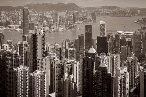 Hong Kong Skyscraper Asia China Skyline