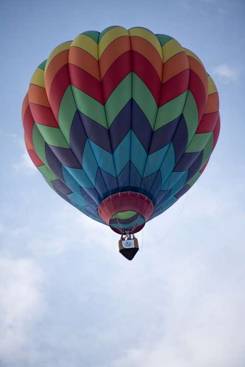 Hot Air Balloon Balloon Colors Sky Flight