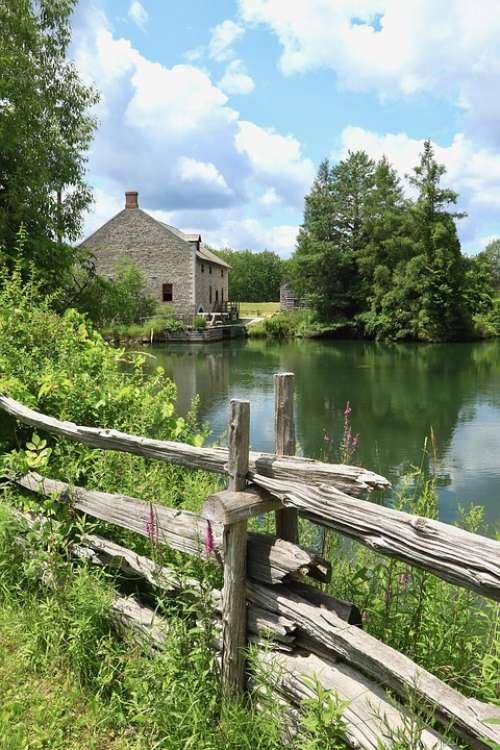 House River Landscape Water Architecture Building