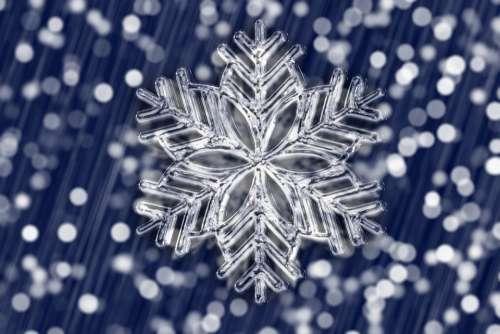 Ice Crystal Snowflake Bokeh Ice Form Christmas
