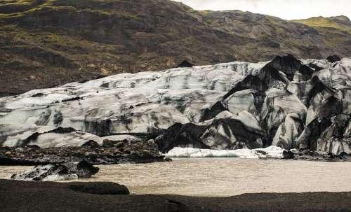 Iceland Eyjafyallojokull Glacier Ice White Water