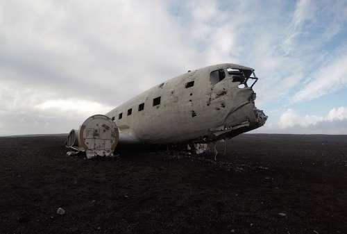 Iceland Plane Wreck Aircraft Crash Landscape