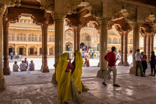 India Jaipur Amber Fort Fortress Antique