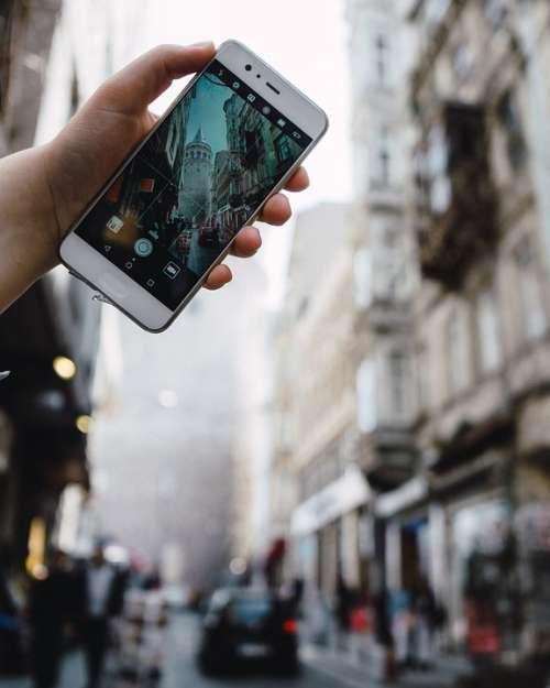 Istanbul Street Huawei Phone Smartphone Galata