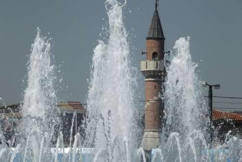 Istanbul Cami Turkey Religion Minaret Landscape