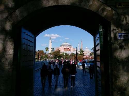Istanbul Hagia Sophia Islam Cami Turkey Minaret