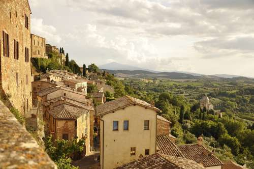 Italy Tuscany Holidays Travel Town Townhouses Old