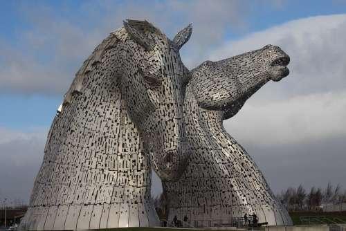 Kelpies Hourse Art Scotland Horse Sculpture
