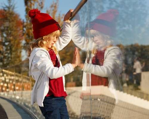 Kid Girl Child Childhood Summer Day Reflection