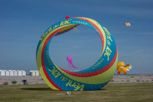 Kite Festival Beach Color Wind Sky Fly