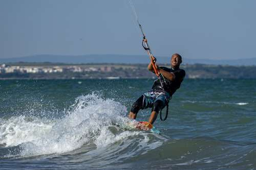 Kite Surf Sea Sport Kiteboarding Wind Kitesurfing