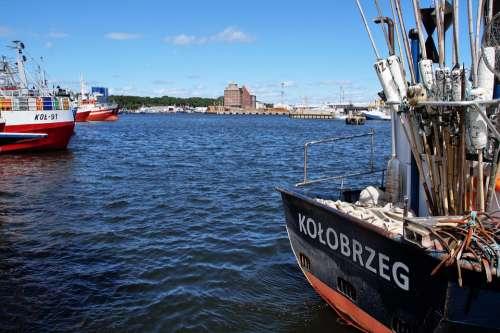 Kolobřeh Port Fishing Sea Ship Granary Moored