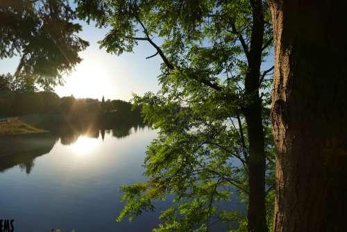 Lake Tree Water Nature Landscape Sky River