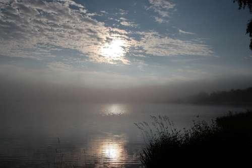 Lake Water Morgenstimmung Sunrise Bostalsee