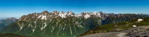 Landscape Panorama Mountain 穂高岳 Elevation 3190M
