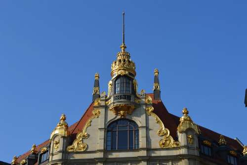 Leipzig Bank Gold Architecture Great Ornament