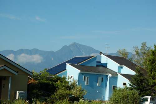 Light Blue Home Mountain Navy Blue Blue Blue Sky